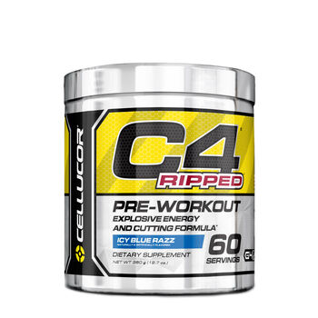 Cellucor C4 Ripped Pre Workout Icy Blue Razz Gnc