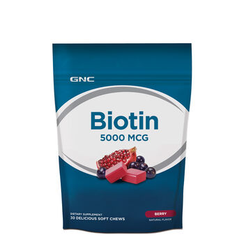 Biotin Soft Chews 5000 MCG - Berry | GNC