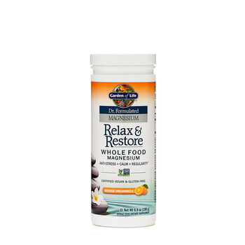 Garden Of Life Relax Restore Whole Food Magnesium Orange Dreamsicle Gnc