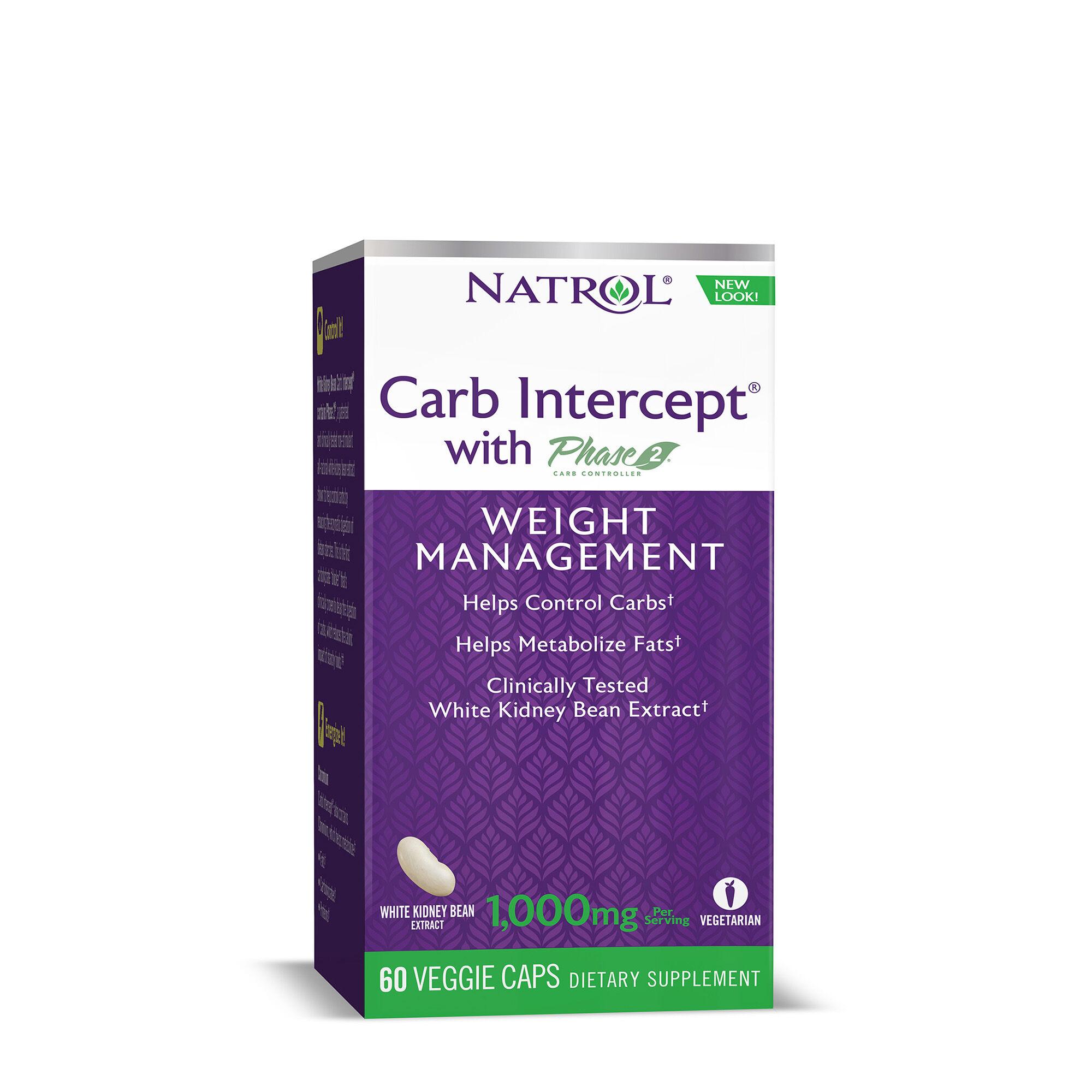 Natrol White Kidney Bean Carb Intercept Phase 2 Gnc