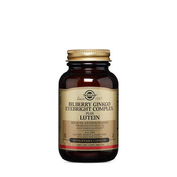 Bilberry Ginkgo Eyebright Complex Plus Lutein