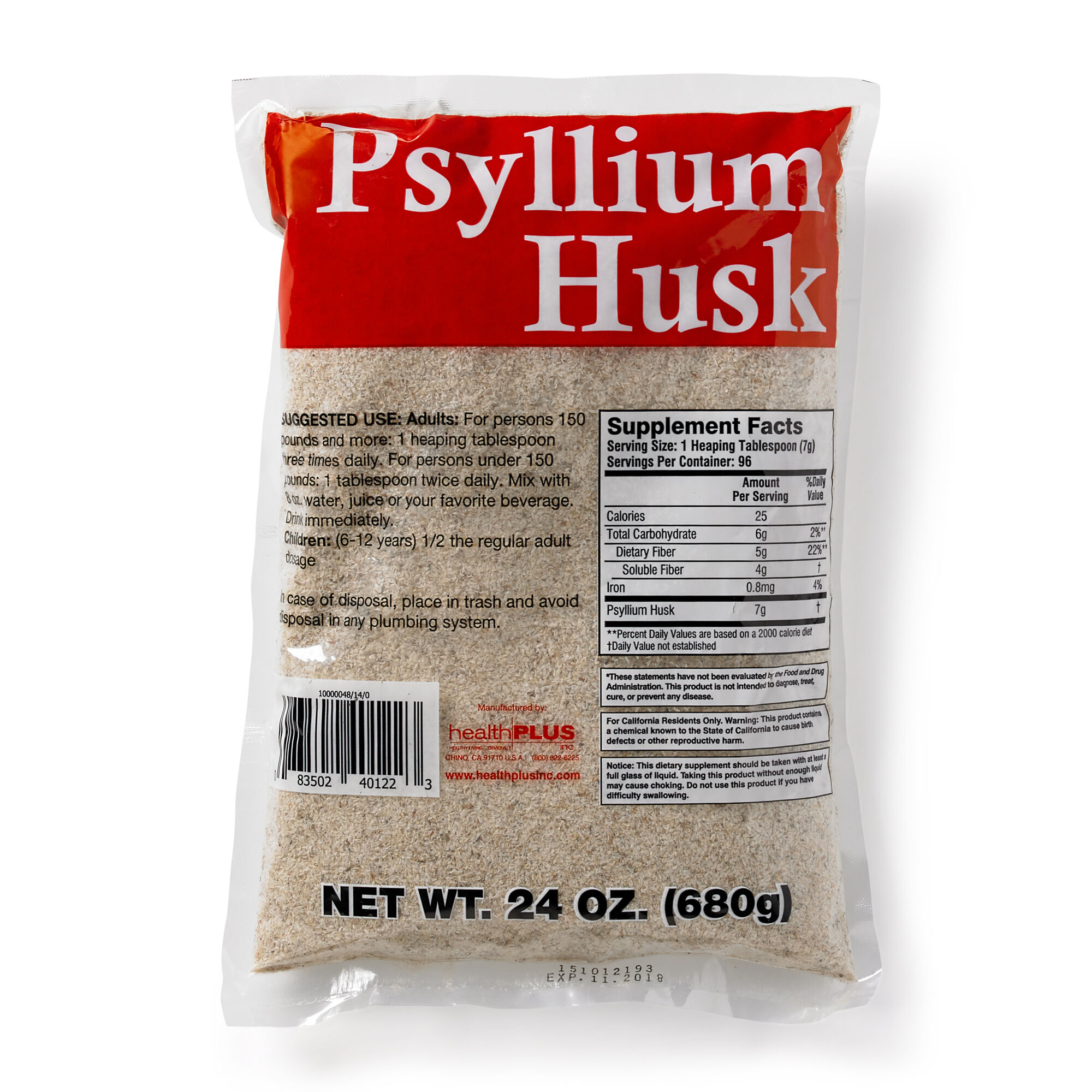 Health Plus® Inc  Psyllium Husks