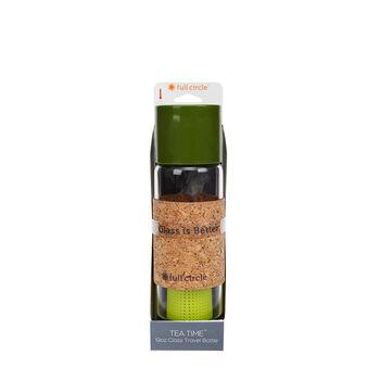 Tea Time 19 oz. Glass Travel Bottle - Sencha Green   GNC