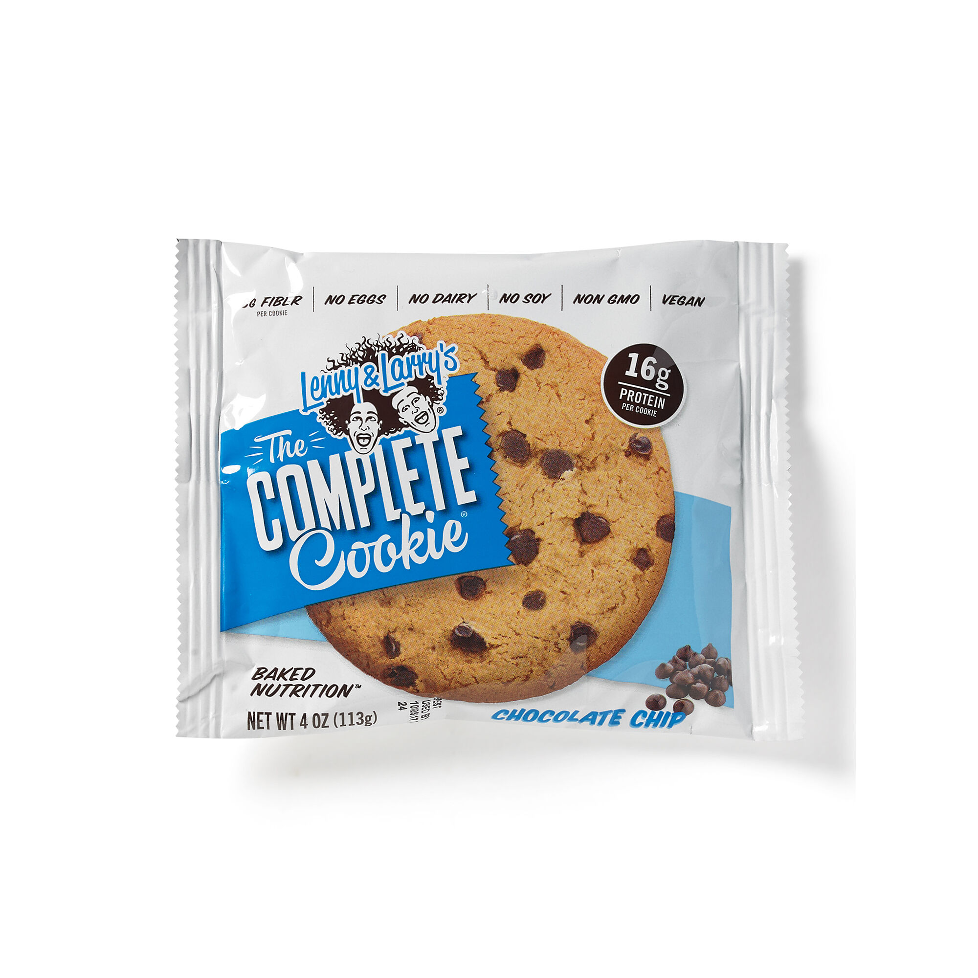 The Complete Cookie - Chocolate Chip - 1 Cookie - Lenny & Larry's - Meal Replacement Bars