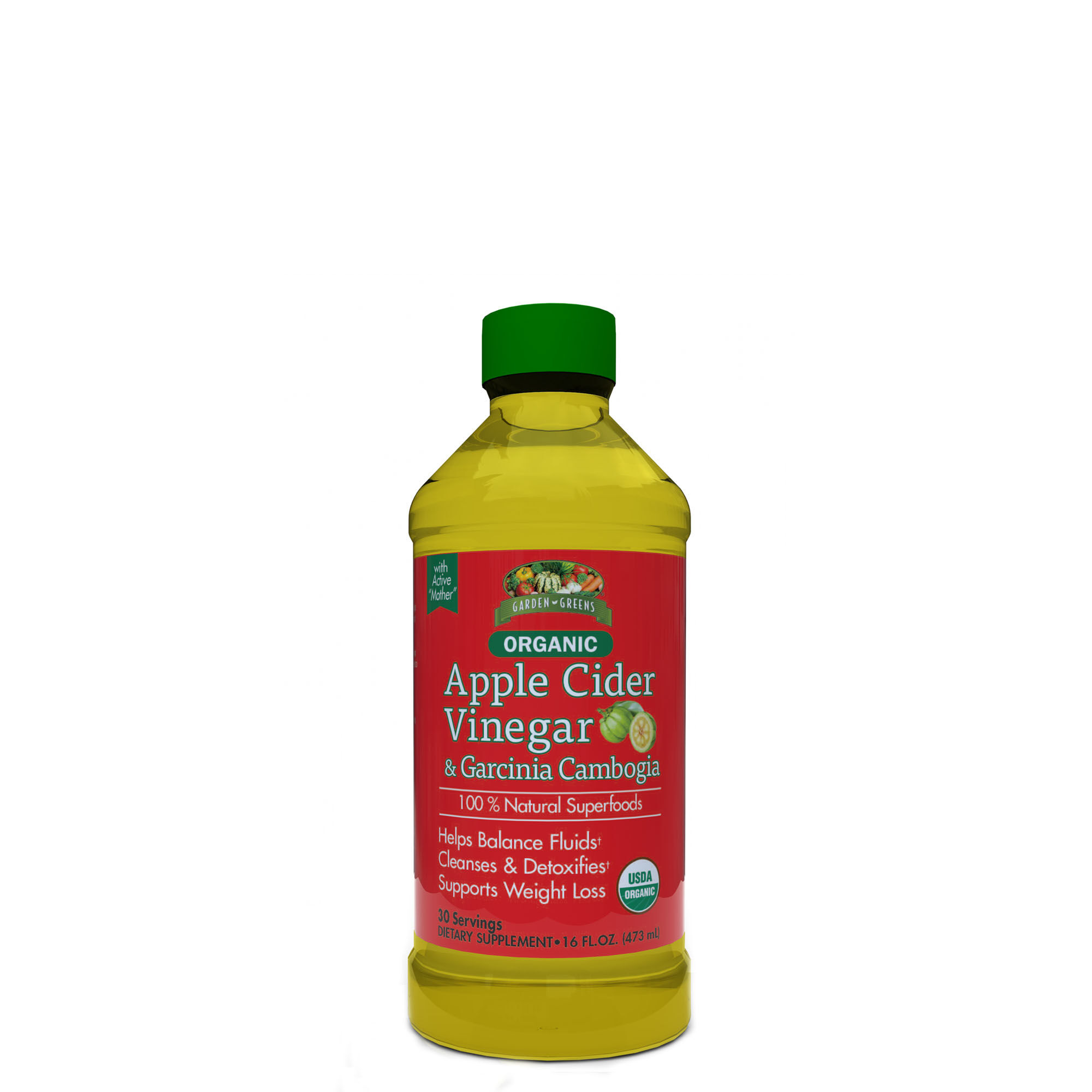 Garden Greens Organic Apple Cider Vinegar And Garcinia Cambogia