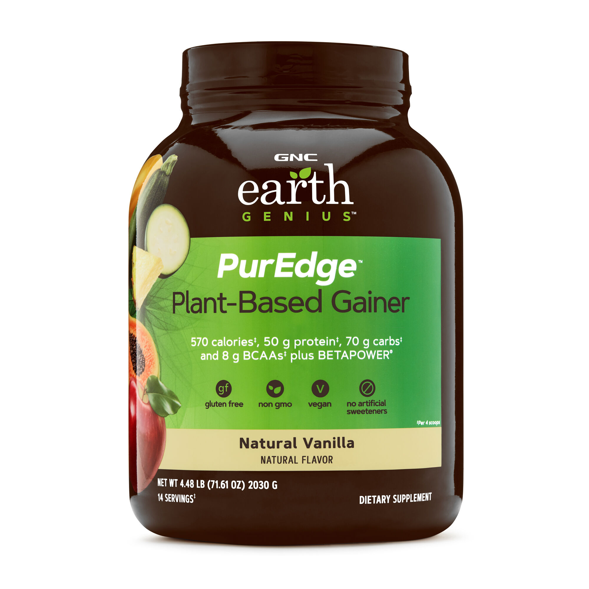 Earth Genius Pureedge Plant Based Gainer Natural Vanilla Gnc