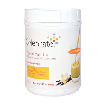 Essential Multi 4 in 1 Multivitamin, Calcium and Protein Shake - Vanilla Cake BatterVanilla Cake Batter | GNC