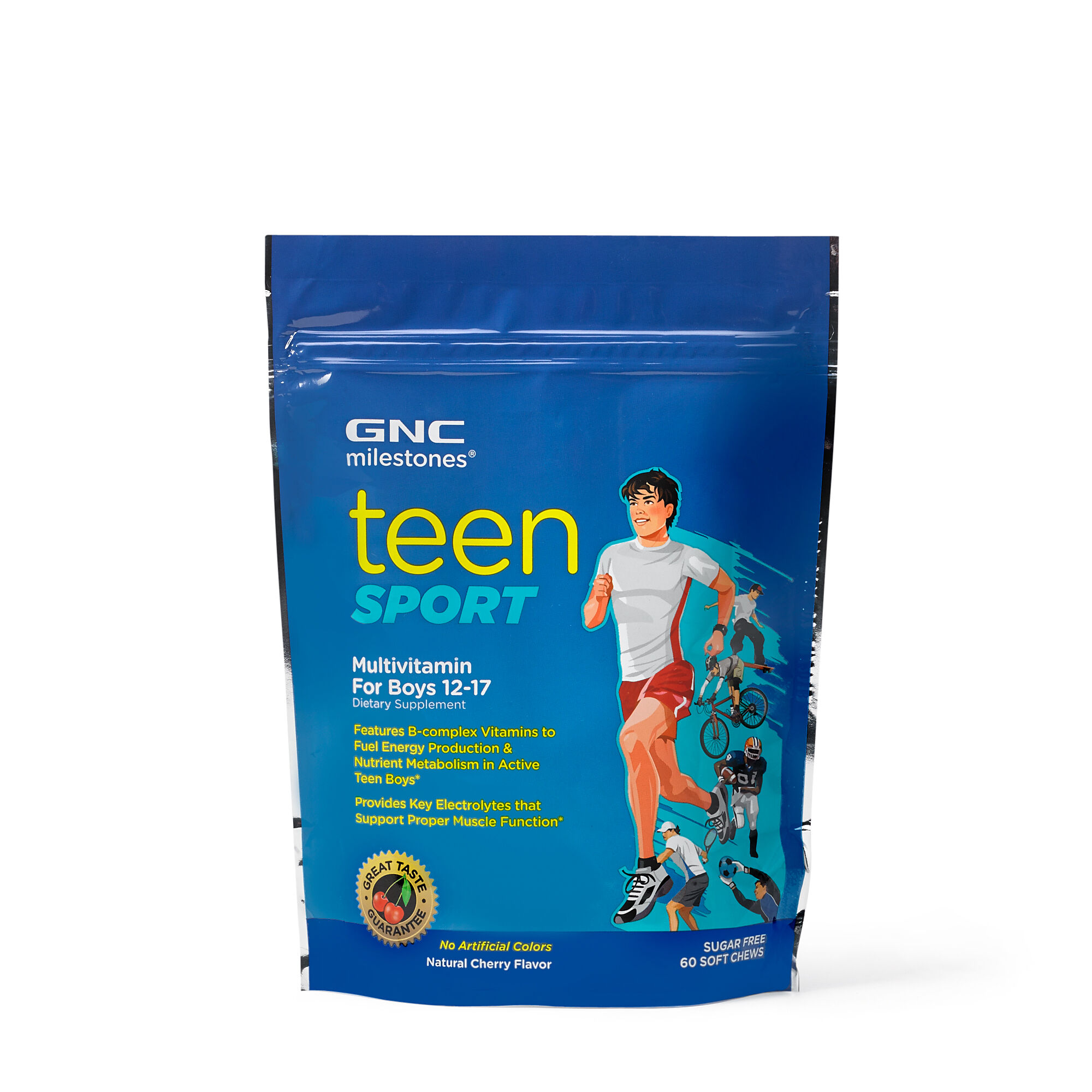 GNC milestones™ Teen Sport Multivitamin For Boys 12-17 - Cherry