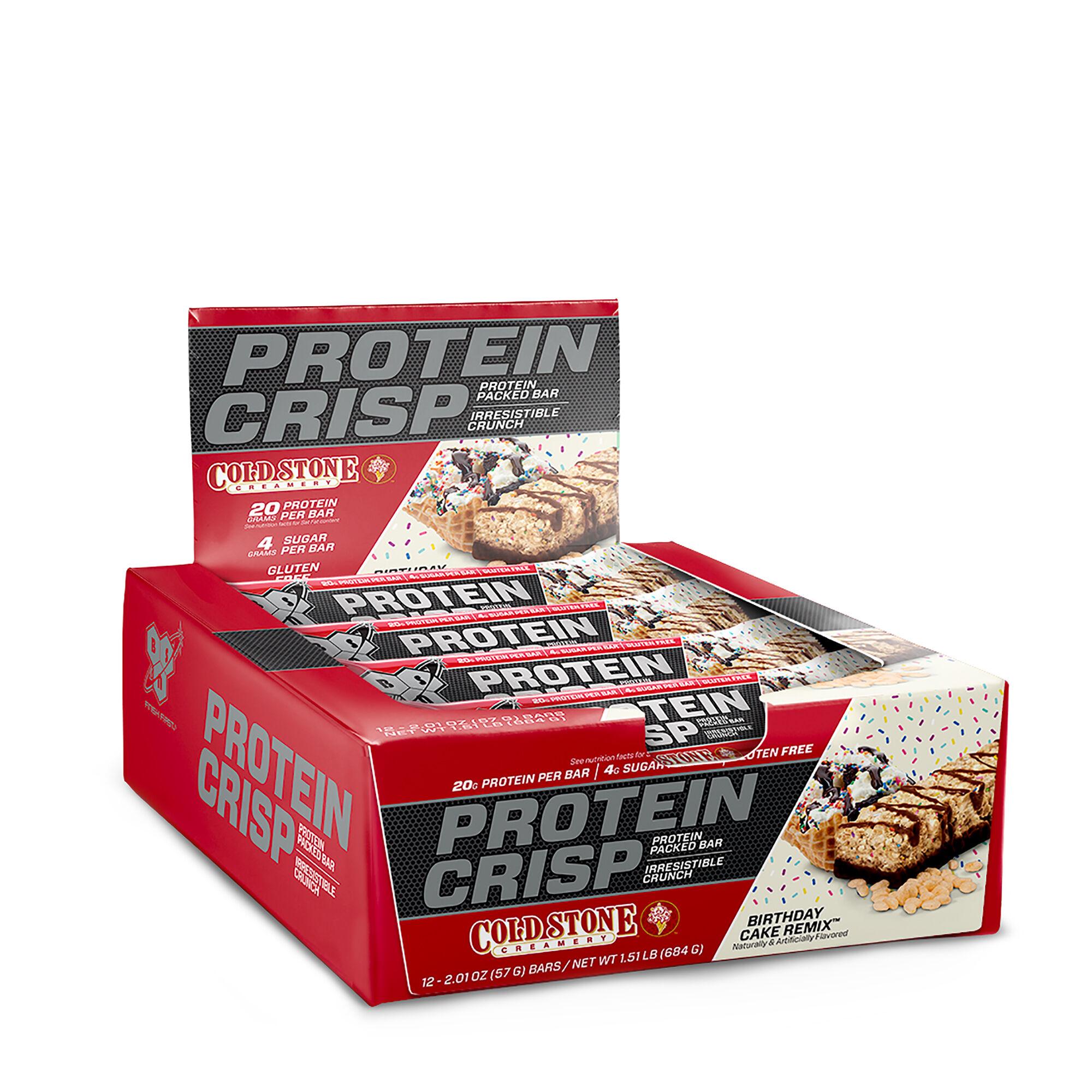 BSNR Protein Crisp Bar Birthday Cake RemixTM 12 Bars