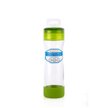 Hydrate Mate 16 oz. Glass Bottle - Lime Green | GNC