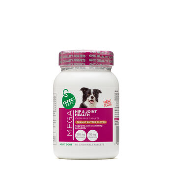 Product Features to keep your dog active and healthy as he ages with GNC Pets Ultra.
