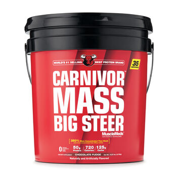 Carnivor™ Mass Big Steer - Chocolate Fudge | GNC