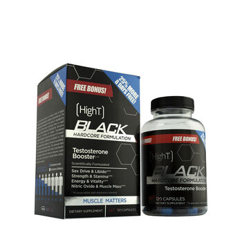 HighT® Black Hardcore Formulation Testosterone Booster - 25% MORE 8 DAYS FREE | GNC
