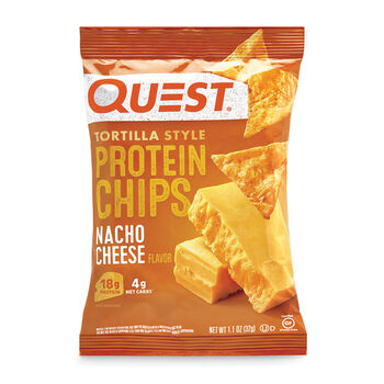 Tortilla Style Protein Chips - Nacho Cheese   GNC