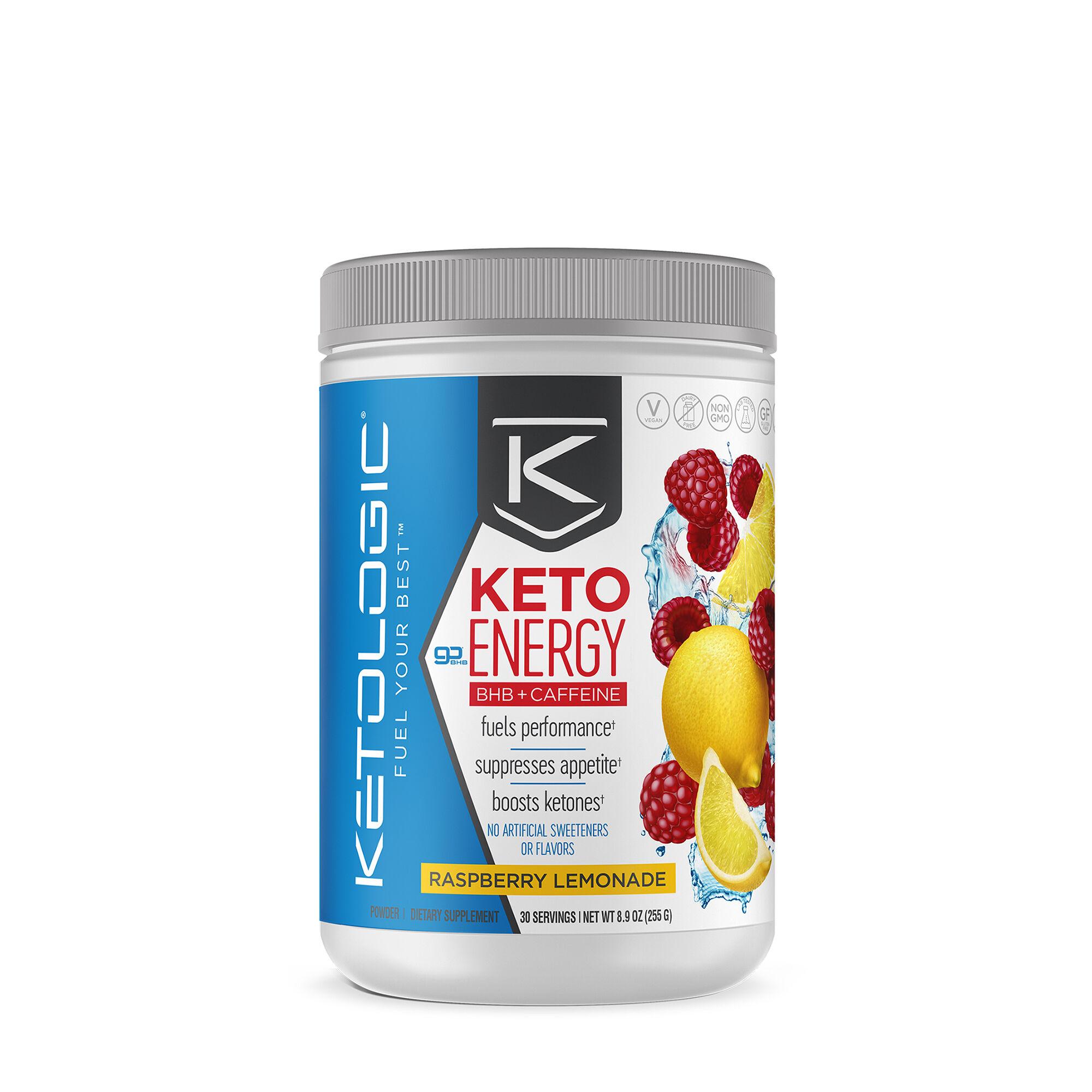 Ketologic Keto Energy Bhb Caffeine Raspberry Lemonade Gnc