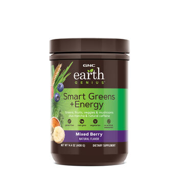 Earth Genius Smart Greens Energy Mixed Berry Gnc Gnc