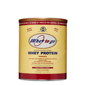 Whey to Go® Whey Protein Powder - Vanilla Naturally Flavored | GNC