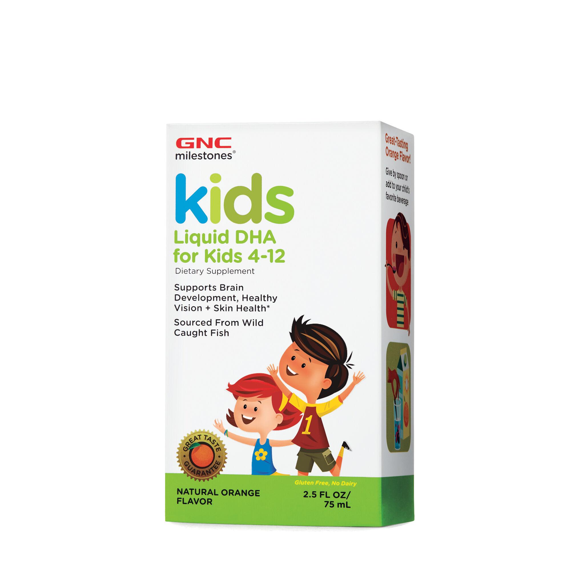 GNC Milestones® Kids Liquid DHA - Natural Orange