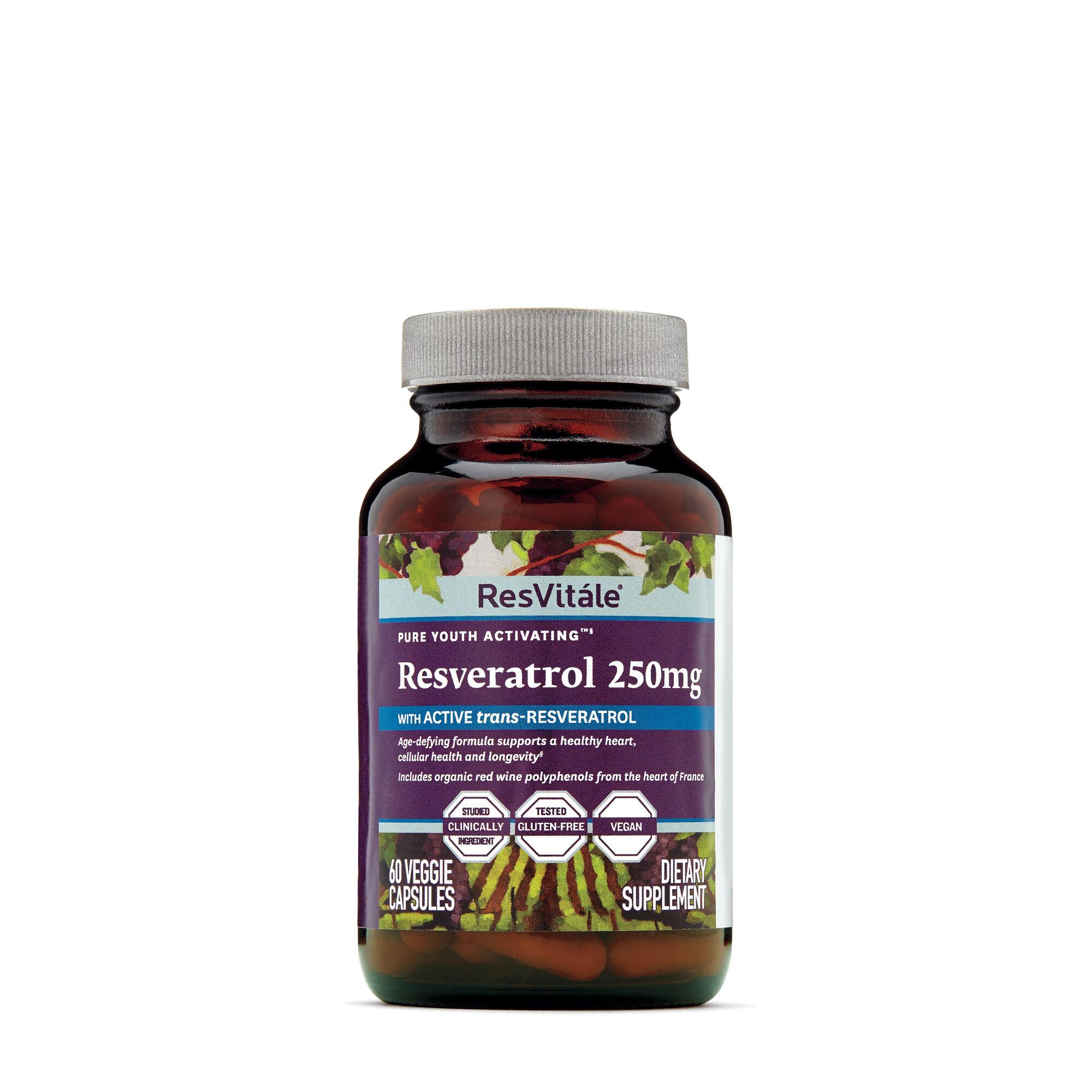 Resvitale Resveratrol 250mg Gnc