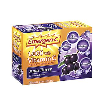 Emergen-C® 1,000 MG Vitamin C Açaí Berry Drink Mix | GNC
