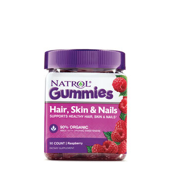 Hair, Skin and Nails Gummies- Raspberry | GNC