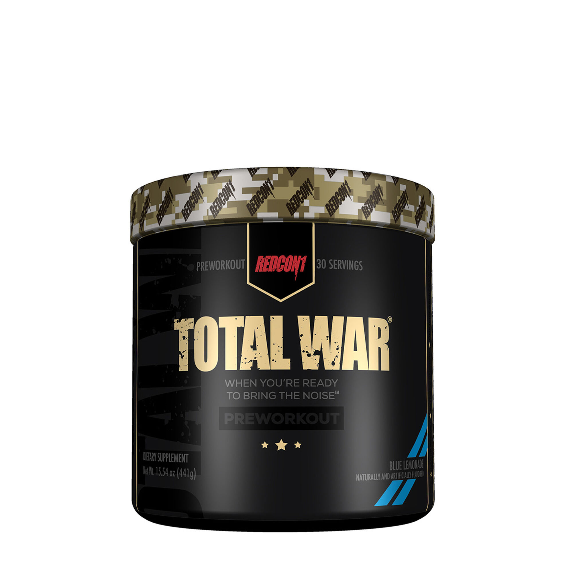 Redcon1 Total War Pre Workout Supplement Blue Lemonade Gnc