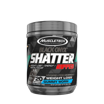 Shatter™ Ripped Black Onyx® - Gummy Worm