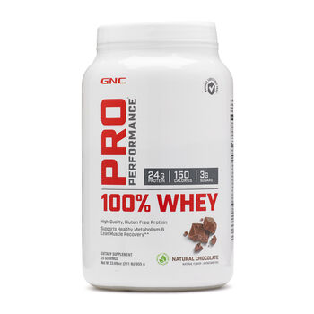 100% Whey - Natural ChocolateNatural Chocolate | GNC