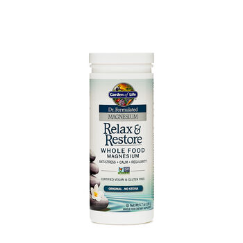 Garden Of Life Relax Restore Whole Food Magnesium Gnc