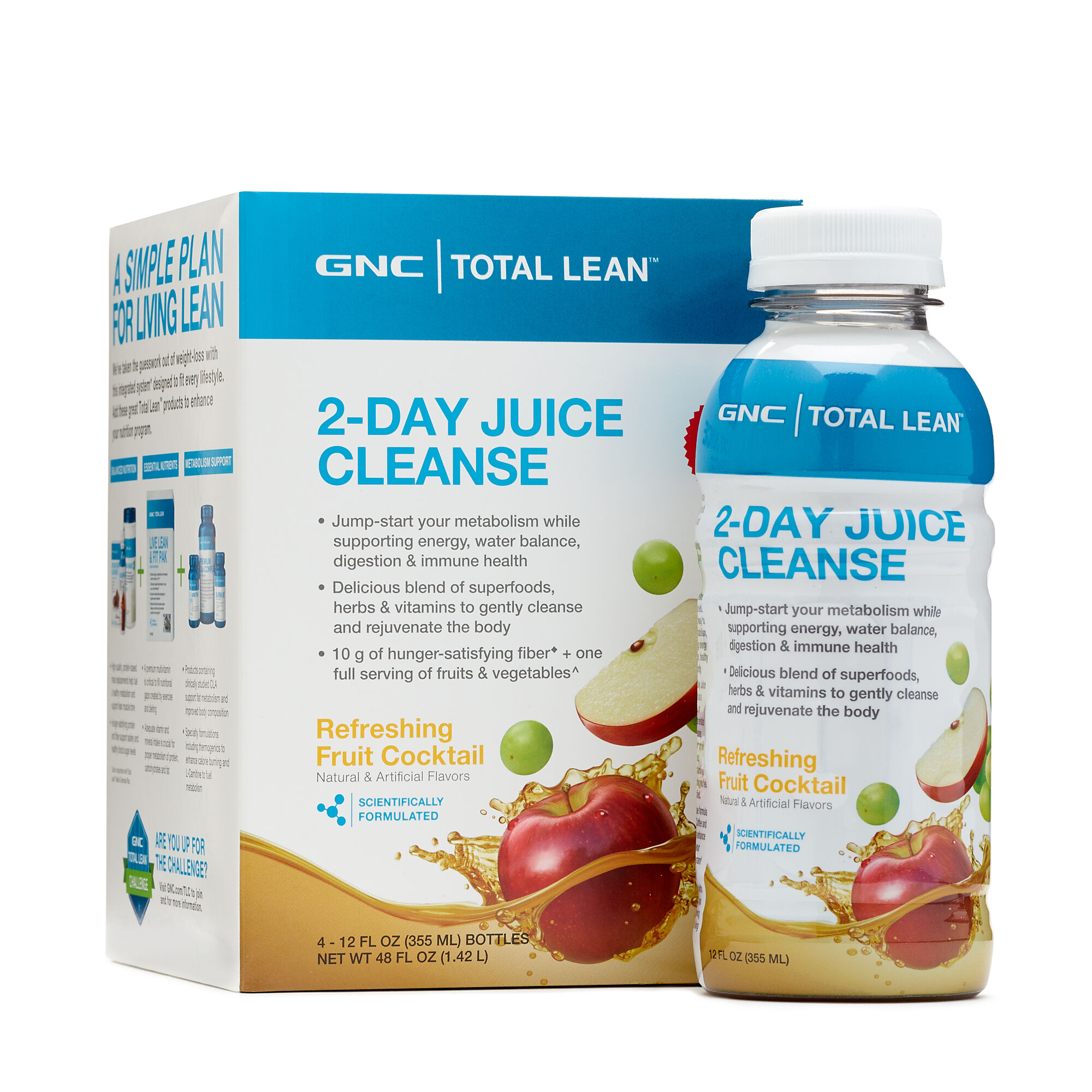 Gnc Total Lean 2 Day Juice Cleanse Refreshing Fruit Cocktail