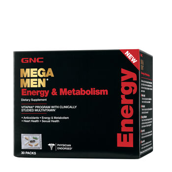 GNC Mega Men Energy and Metabolism Vitapak Program