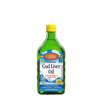 Cod Liver Oil Omega-3s EPA & DHA - Natural Lemon Flavor | GNC