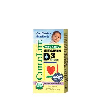 Organic Vitamin D3 Drops - Natural Berry Flavor | GNC