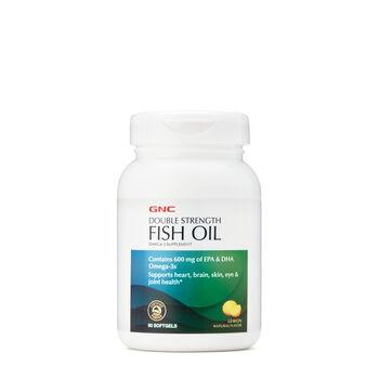 Gnc double strength fish oil lemon gnc for Fish oil gnc