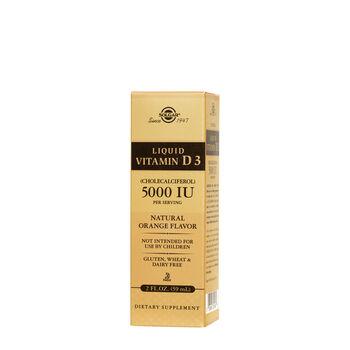 Liquid Vitamin D3 (Cholecalciferol) 5000 IU - Natural Orange Flavor | GNC