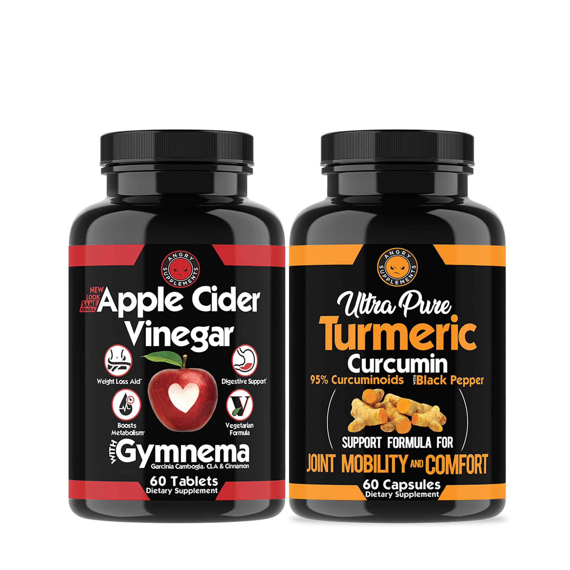 Angry Supplements Apple Cider Vinegar Turmeric Bundle Pack Gnc
