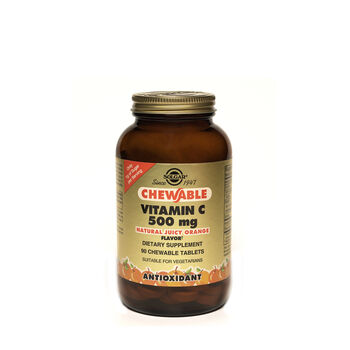 Chewable Vitamin C 500 mg - Natural Orange Flavor   GNC