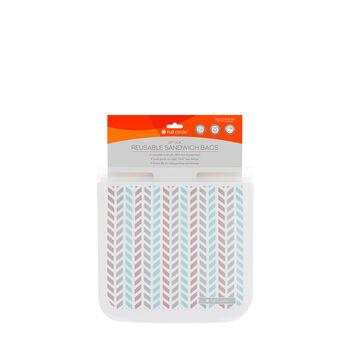 Ziptuck Reusable Sandwich Bags - Chevron   GNC