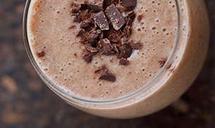 Chocolate Vegan Protein Smoothie with Greens Recipe