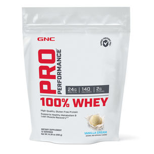 Vanilla GNC Pro Performance 100% Whey Protein