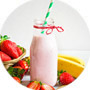 Stimulating Strawberry Banana Milkshake