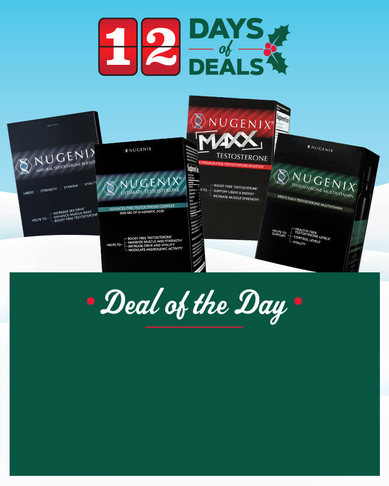 12 Days Of Deals features flash sale events for supplements, protein powders, customized packs of vitamins and more every day thru December 24