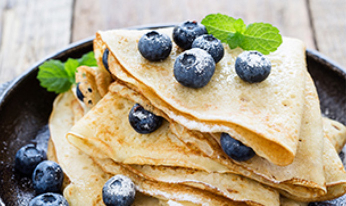 High Protein Breakfast Crepes Recipe