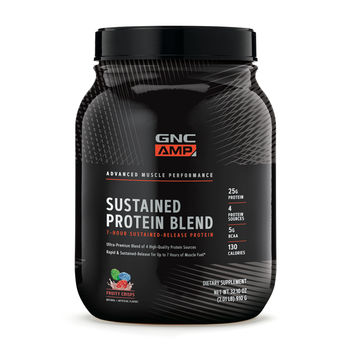 GNC AMP Sustained Protein Blend - Cinnamon Toast