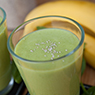 Banana Chia Seed and Spinach Smoothie