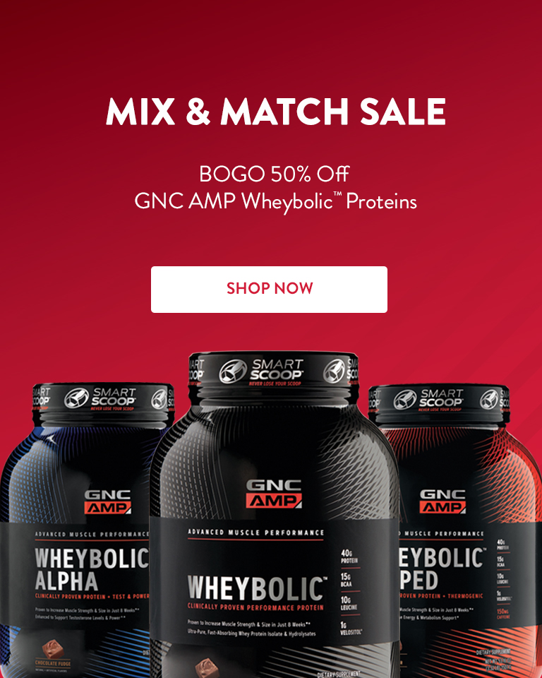 Buy One, Get One 50% Off GNC AMP Wheybolic™ Proteins. Shop Now.