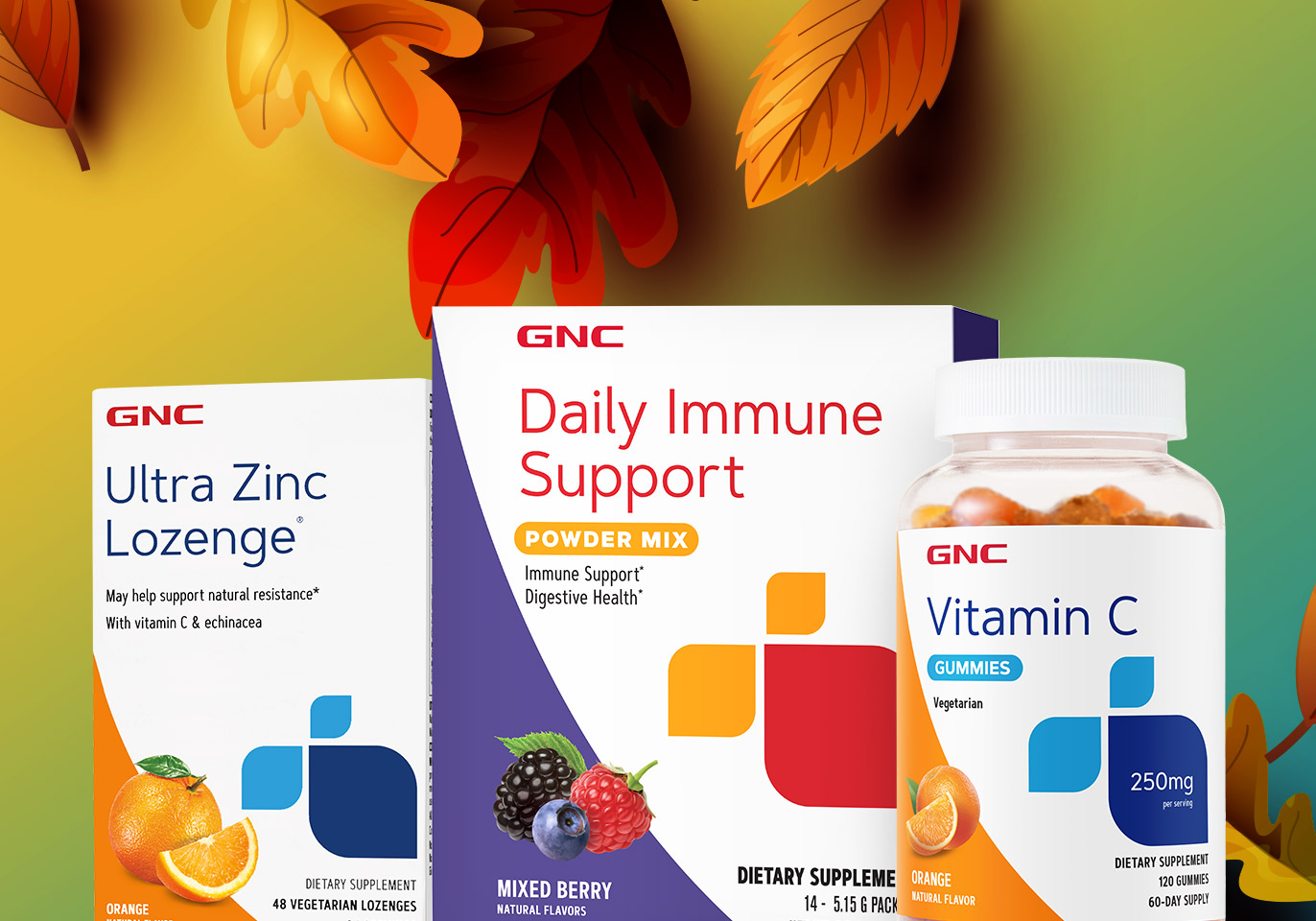 BUY 1, GET 1 FREE IMMUNE SUPPORT. As autumn gets going, a strong immune system is more important than ever. But don't worry—we've got your (immune system's) back*