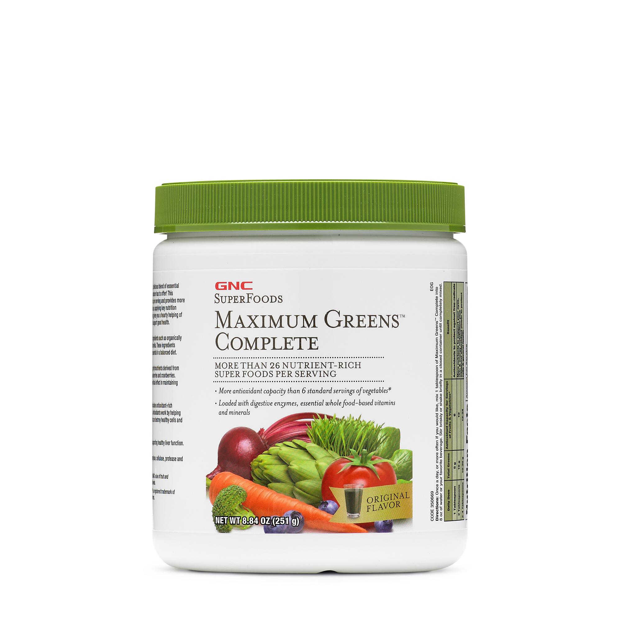 Gnc Superfoods Maximum Greens Complete Original Flavor Gnc