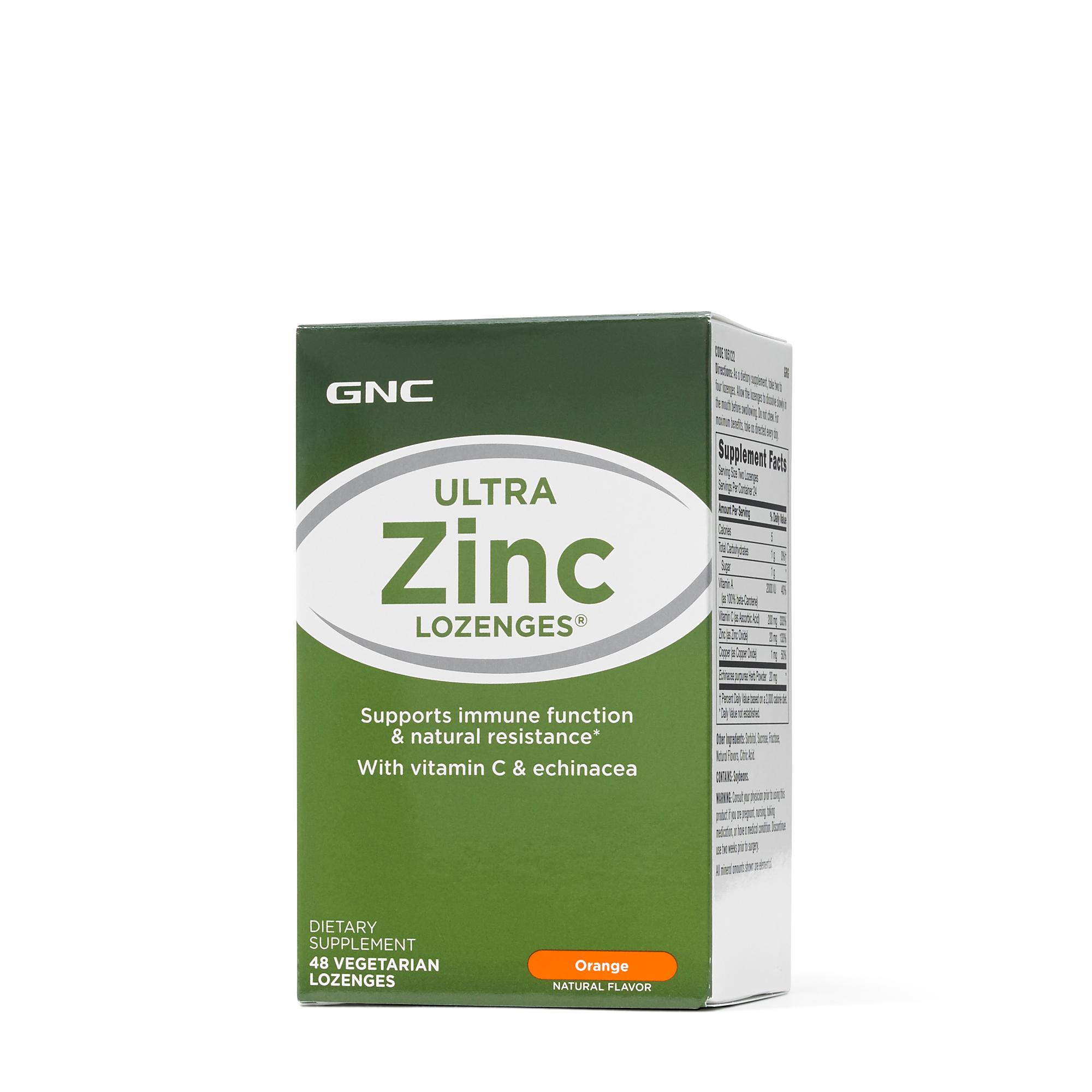 Gnc Ultra Zinc Lozenges Orange Gnc