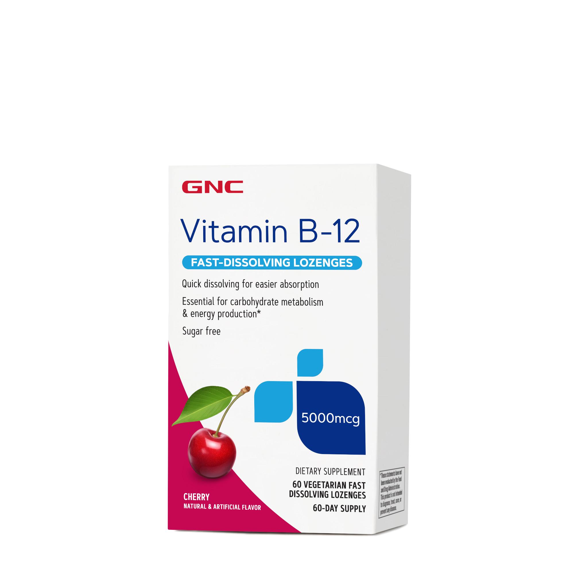 GNC Vitamin B-12 5000 mcg - Cherry   GNC
